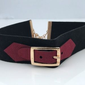 Jewelry - Women Choker Necklace Black Velvet With Buckle